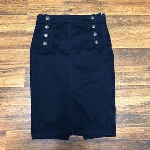 Express Jeans Denim Pencil Skirt